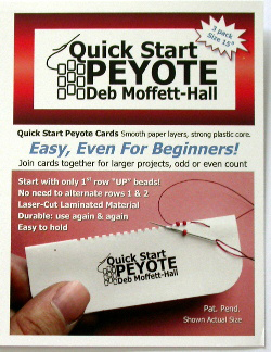 Quick Start Peyote Cards (Size 15 seed & cylinder)