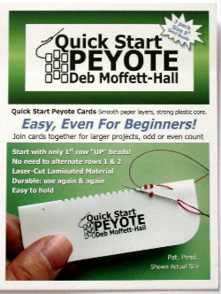 Quick Start Peyote Cards (Size 8 seed)
