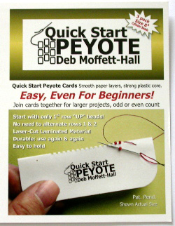 Quick Start Peyote Cards (Size 8 cylinder & Size 6 seed)