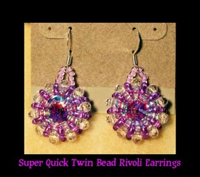 SUPER Quick N Easy TWIN Bead Rivoli Earring TUTORIAL