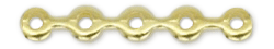 5-Hole Spacer Waves Bar, Gold Plated, 12 each