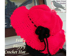 Frilly Floppy Crochet Hat