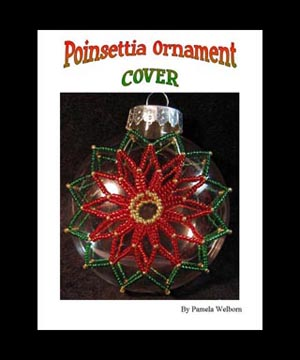Poinsettia Disc Ornament Cover