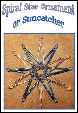 Spiral Star Ornament or Suncatcher