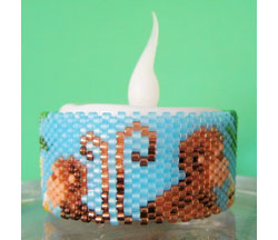 Monkey Tea Light Cover