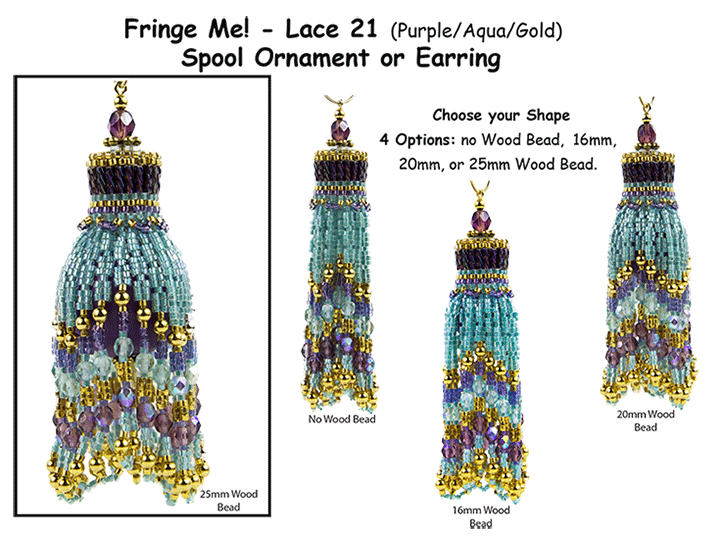 Fringe Me! - Lace 21, Spool Ornament or Earring Tutorial