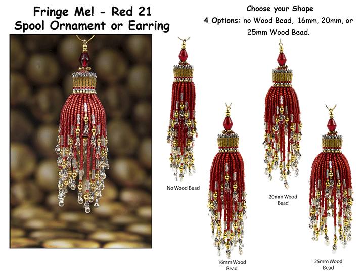 Fringe Me! - Red 21, Spool Ornament or Earring Tutorial