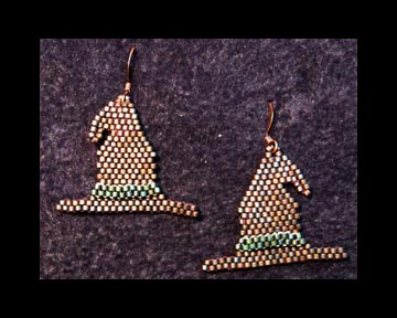 Old Witches Hat Earring