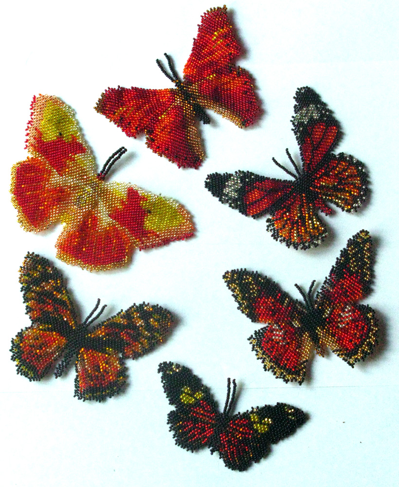 6 Red Butterflies