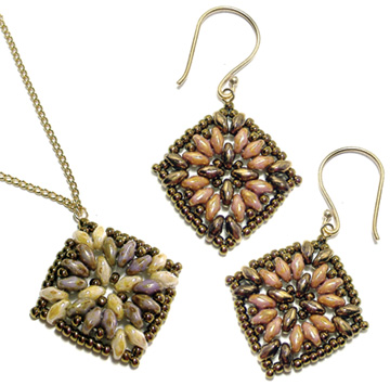 Maya Earrings and Pendant