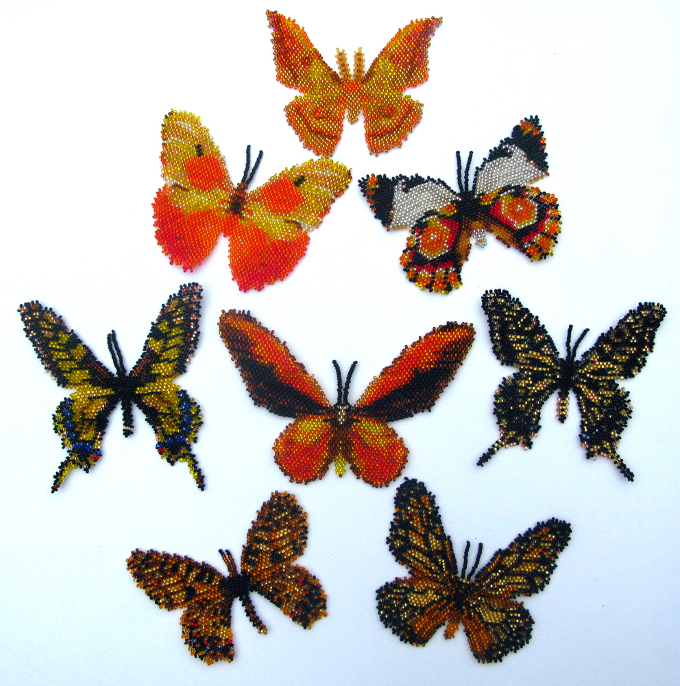 8 Yellow Butterflies and Moths
