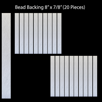 "Bead Backing, 8"" x 7/8"" (20 pieces)"