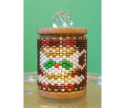 Christmas Tea Cup Spool Ornament