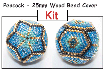 Peacock - 25mm Wood Bead Cover KIT