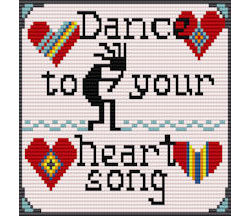 Heart Song Bead Loom Chart