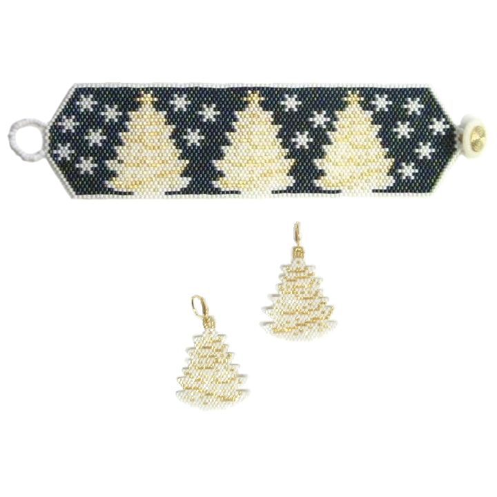 White Christmas Bracelet & Earrings