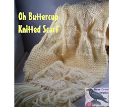 Oh Buttercup Knitted Scarf