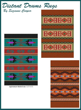 DISTANT DRUMS RUGS e-Book (3 Rug Patterns)