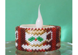Christmas TeaCup Tea Light Cover