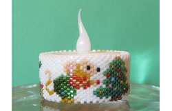 Mouse Christmas Tree Tea Light Cover