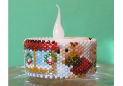 Missy Mouse Xmas Window Tea Light Cover