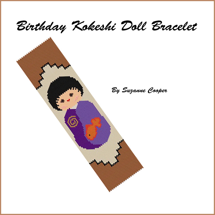 Birthday Kokeshi Doll Bracelet
