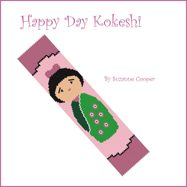 Happy Day Kokeshi Doll Bracelet