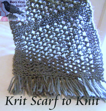 Krit Scarf to Knit