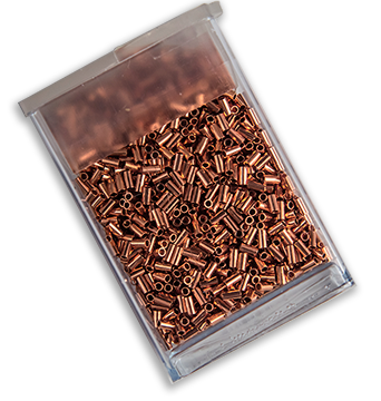 Micro Bugle Beads, 2mm, Copper (10 Grams)