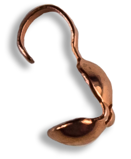 Bead Tips (Clamshell), Copper (20)
