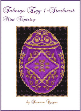 Faberge Egg 1 Starburst Mini Tapestry