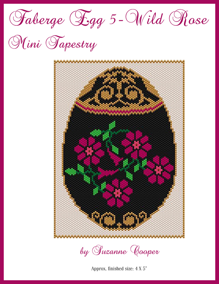 Faberge Egg 5 Wild Rose Mini Tapestry