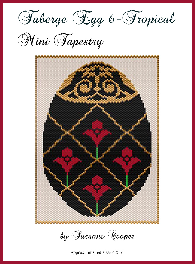 Faberge Egg 6 Tropical Mini Tapestry