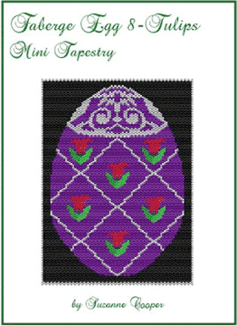 Faberge Egg 8 Tulips Mini Tapestry
