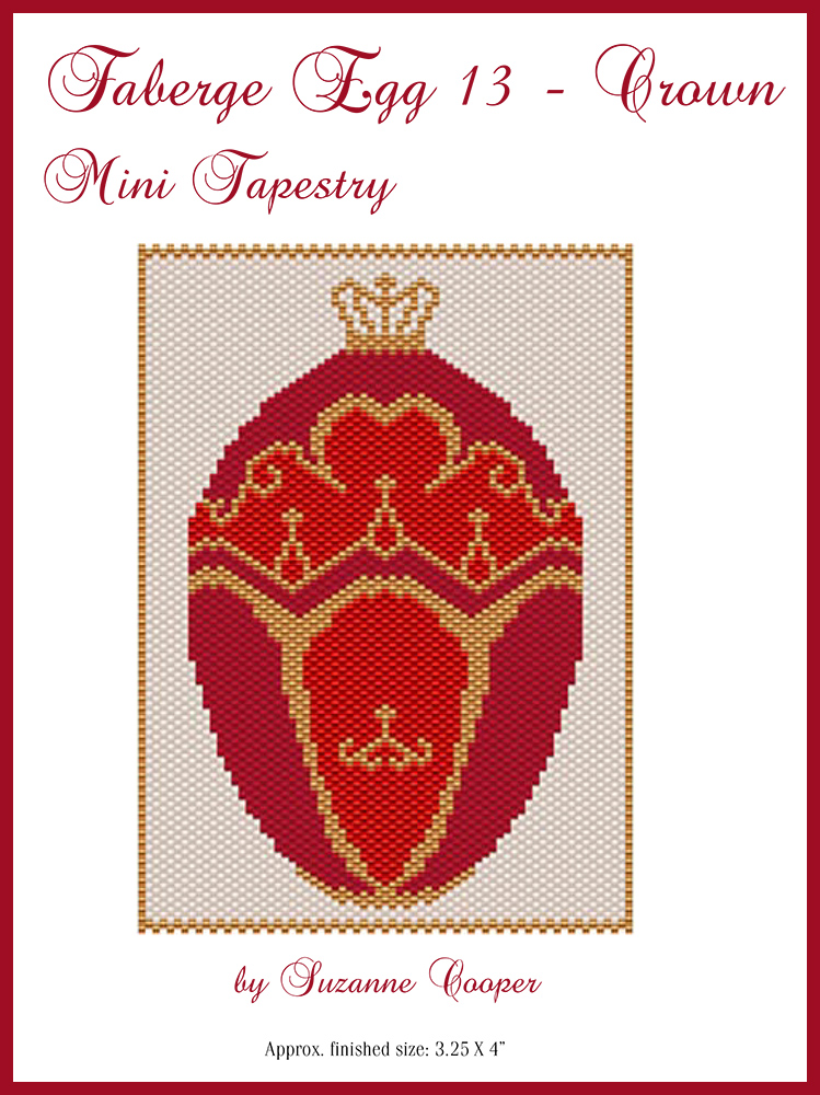 Faberge Egg 13 Crown Mini Tapestry