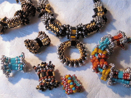 """Lindora""interchangable beaded beads bracelet and necklace"