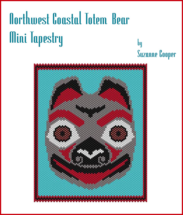 Northwest Coastal Totem Bear Mini Tapestry