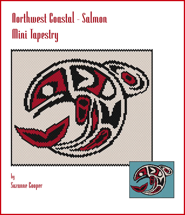 Northwest Coastal Salmon Mini Tapestry