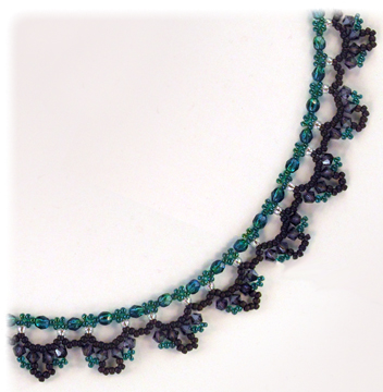 Emerald Lace Necklace