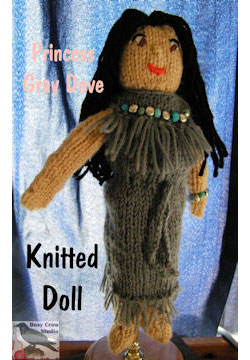 Princess Gray Dove Knitted Doll