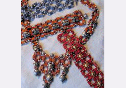 Tila beads chain-chain-chain necklace and bracelets