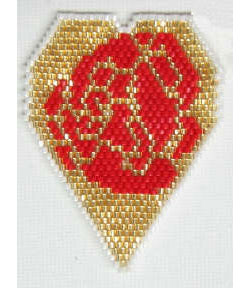 Rose Filled Hearts with Oriental Flair Pendant