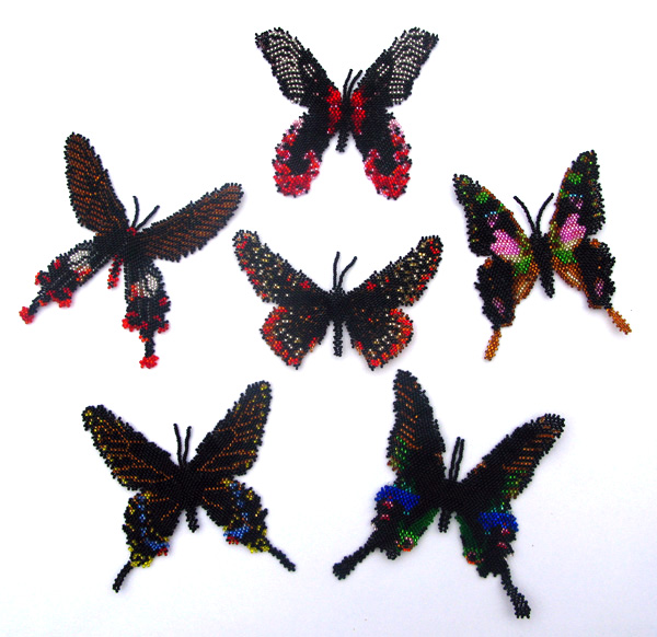 6 Black Butterflies