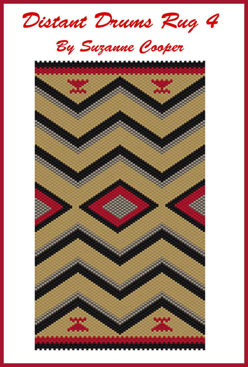Distant Drums Rug 4 Navajo Mini Tapestry