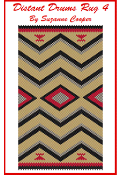 Distant Drums 4 Navajo Rug a Mini Tapestry