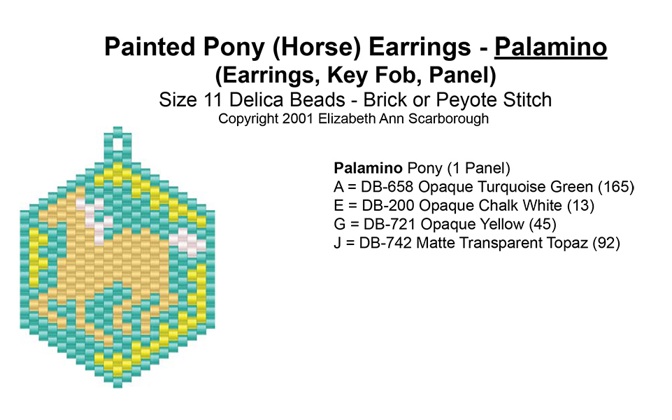 Painted Pony (Horse) Earrings - Palamino