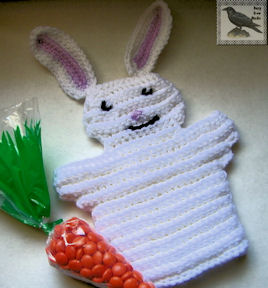 Crocheted Bunny Hand Puppet