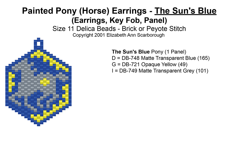 Painted Pony (Horse) Earrings - The Sun's Blue