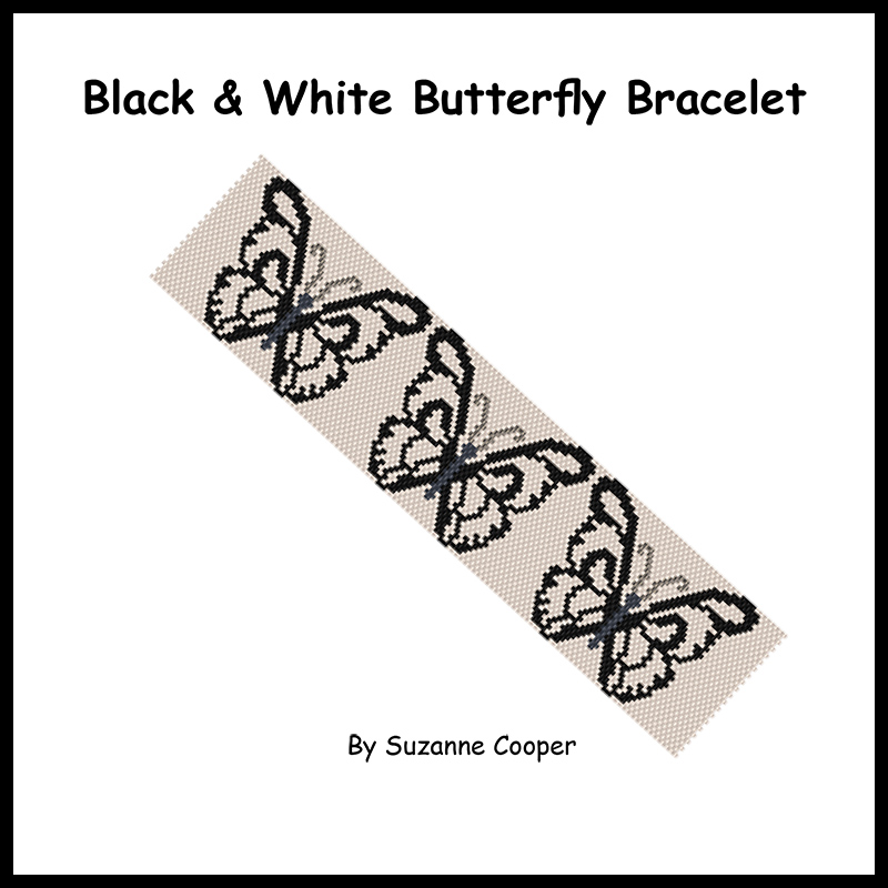 Black & White Butterfly Bracelet