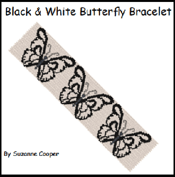 Black & White Butterflies Bracelet